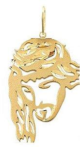 Pingente Rosto de Cristo em Ouro 18k