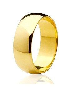 Aliança Abaulada em Ouro Amarelo 18K