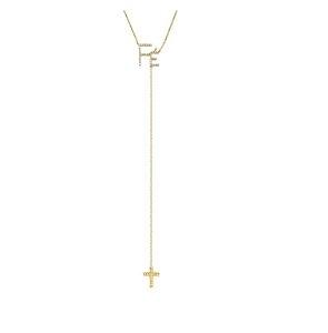 Colar Gravatinha Fé em Ouro 18k e Brilhantes