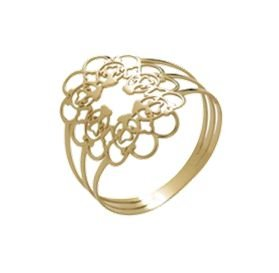 Anel Mandala Oval em Ouro 18k