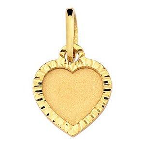 Pingente Coração em Ouro Amarelo 18k-750