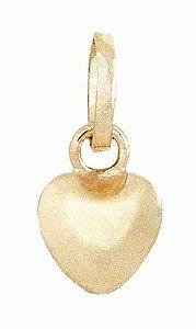 Pingente Mini Coração oco em Ouro 18k