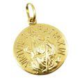 Pingente Medalha São Bento Mini em Ouro 18k