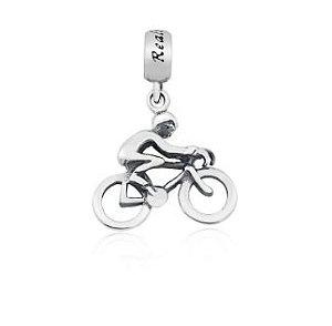 Berloque Ciclista  em Prata 925
