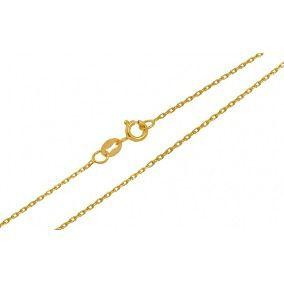 Corrente cadeado 40cm em Ouro 18k