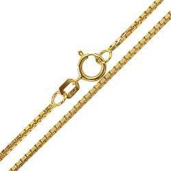 Corrente Veneziana em Ouro Amarelo 18k-750 com 40 cm