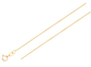 Corrente Groumet 40cm em Ouro Amarelo 18k