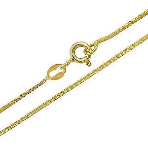 Corrente Espiga em ouro amarelo com 40 cm
