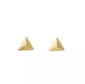 Brinco Triângulo em Ouro amarelo 18k - 750