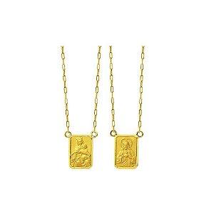 Escapulário médio em ouro amarelo 18k-750