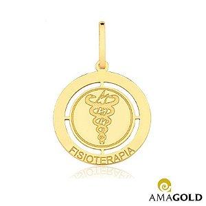 Pingente de Ouro 18k de Formatura Fisioterapia