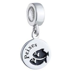 Berloque Signo de Peixes em Prata 925 - Coleção Dreams