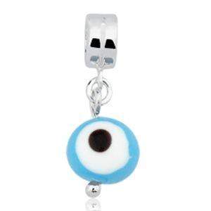 Berloque Olho Grego Azul em Prata 925 - Linha Dreams