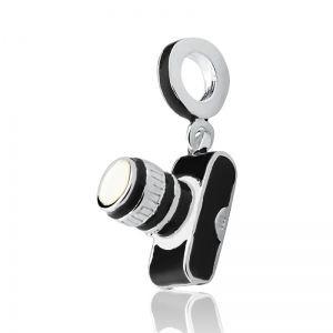 Berloque Maquina Fotográfica em Prata 925 com Resina - Linha Dreams