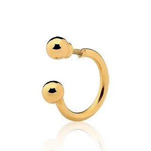 Piercing para Orelha (cartilagem) em Ouro Amarelo 18k-750