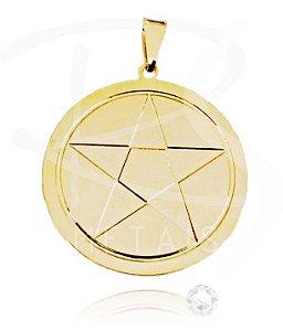 Mandala de Oxalá - BANHADA a Ouro Amarelo 18k-750