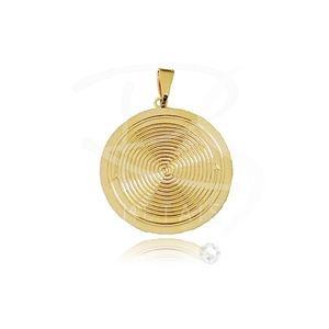 Mandala de Oyá-Tempo - BANHADA a Ouro 18k-750