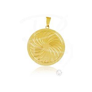 Mandala de Iansã -BANHADA a Ouro 18k-750