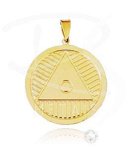 Mandala de Oxóssi  - BANHADA a Ouro 18k-750