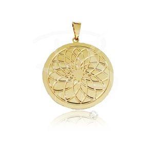 Mandala de Obá - BANHADA a Ouro 18k-750