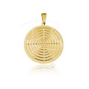 Mandala de  Omolú - BANHADA a Ouro 18k