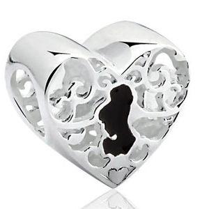 Berloque Coração da Cinderela em Prata 925 - Linha Dreams