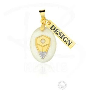 Pingente Profissões - Design FOLHEADO em Ouro 18K