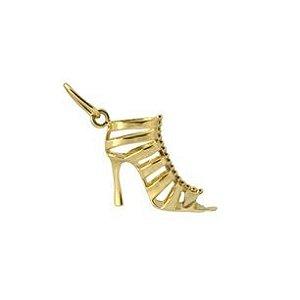 Pingente Sandália Gladiadora em Ouro Amarelo 18k-750