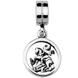 Berloque São Jorge em Prata Envelhecida 925 - Linha Dreams