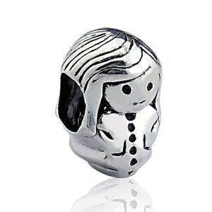 Berloque Menina - Passante em Prata 925 Envelhecida - Linha Dreams