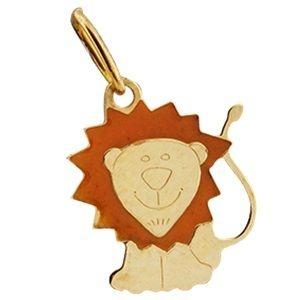 Pingente Leão em Ouro Amarelo 18K