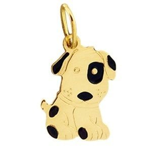 Pingente Cachorro em Ouro Amarelo 18K