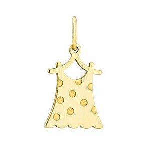 Pingente Vestido em Ouro Amarelo 18K-750