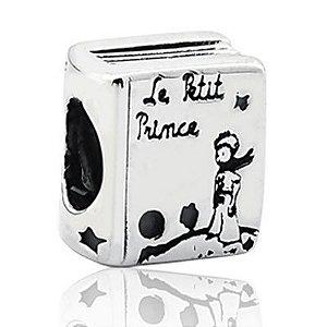Berloque Livro do Pequeno Príncipe em Prata 925 - Linha Dreams