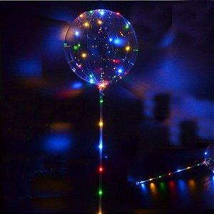Balão Bubble Festa Led  COLORIDO - Acompanha 03 pilhas
