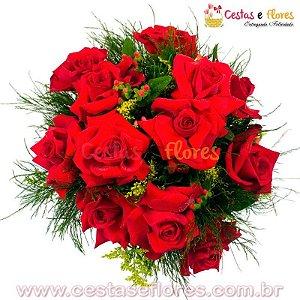 Buque 06 Rosas Importadas Vermelhas
