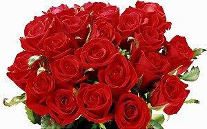 Buquê com 18 Rosas Vermelhas Nacionais