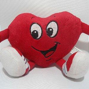 Coração de Pelúcia 12cm x 16cm