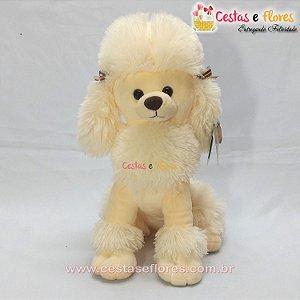 Cachorro de Pelúcia Poodle Creme