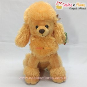 Cachorro de Pelúcia Poodle Laranja