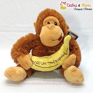 Macaco de Pelúcia com Banana