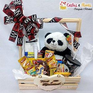 Cesta Master Urso Panda e Copo Panda Uatt
