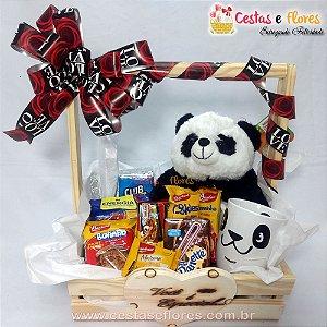 Cesta Master Urso Panda e Caneca Panda Uatt