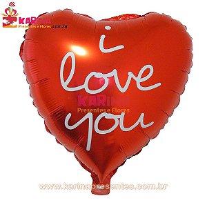 Balão Gás Hélio I LOVE YOU