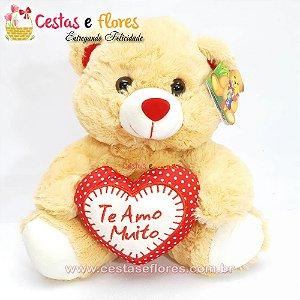 Urso de Pelúcia com Coração TE AMO MUITO