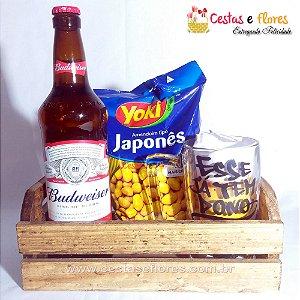 Kit Cerveja e Amendoim com Caneco de Vidro ESSE JÁ TEM DONO