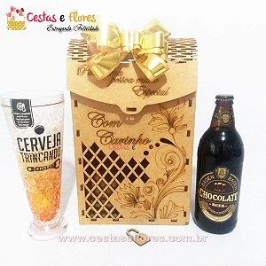 Caixa Especial MDF + Baden Baden Chocolate - Copo Térmico