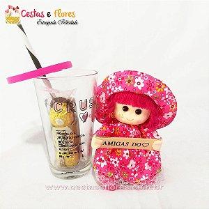 Copo de Vidro CRUSH + Boneca Amigas do Coração + Ferrero Rocher