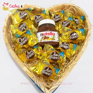 Coração de Chocolates ouro Branco + NUTELA