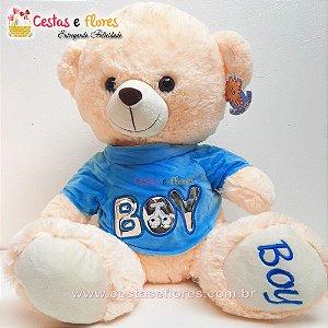 Urso de Pelúcia BOY - 45cm Altura